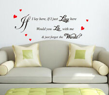 Snow Patrol 'Chasing Car' Song Lyrics VINYL Wall Sticker Art Quote- HIGH QUALITY