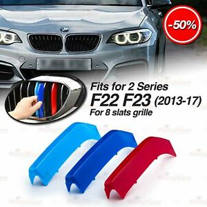 M-Tech 8 BARS Kidney Grille 3 Colour Cover Insert Stripe fit BMW F22 F23 2013-17