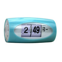 Battery Operated Digital Alarm Clock Auto Flip Clock for Home Office Green