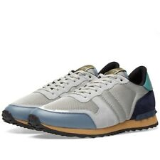 Valentino Rockrunner Sneakers Shoes Blue Gray Teal Rock Stud EU 40 US 7