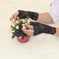 Wedding Costume Prom Charming Lady Women Party Bridal Lace Gloves Fingerless
