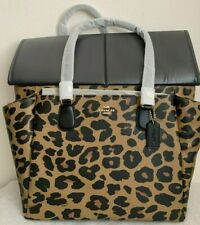 NWT Coach Leopard Animal Print Baby Diaper Bag Multifunction Tote F87755 $478