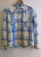 Concrete Clothing Company Blue Check Shirt Size Small <B2358z