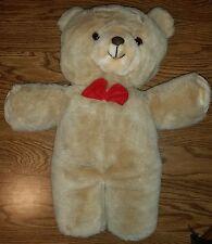"Vintage Gerber TLC Tender Loving Care 20"" Bear w/Red Bowtie Stuffed Animal Plush"