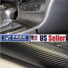 "4D Premium Carbon Fiber Vinyl Body Wrap DIY Sticker Film Sheet Decal 8FTx5FT 84"""
