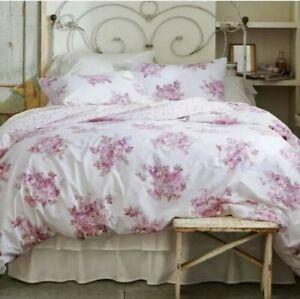 New Simply Shabby Chic Blush Bouquet Full Queen Duvet Cover & Shams Set 3pc