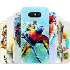 Dessana Parrots Painting TPU Silicone Protection Case Phone Cover For LG