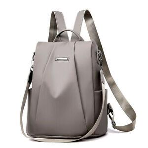 Women Anti-Theft Backpack Waterproof Rucksack Ladies Travel School Shoulder BBE