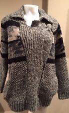 ISABEL MARANT ETOILE 36/4 ODRYS Navajo Cardigan Sweater Oversized Grey #1977