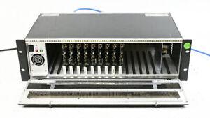 Evertz 500FR Exponent Frame w/ 9x 500DCDA-HD DA & Downconverter Boards 1x PS