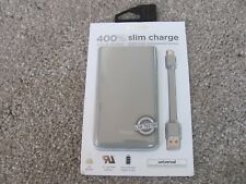 New iHome Slim Charge 8,000 mAh Universal Rechargeable Battery Gray IH-PP2004WG