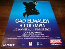 GAD ELMALEH - Publicité de magazine SPECTACLE LA VIE NORMALE !!!!!!!!!