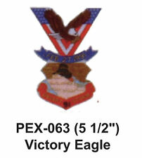 """VICTORY EAGLE Embroidered Military Extra Large Patch (5 1/2"""")"""