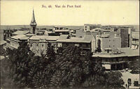 Port Said Ägypten Egypt ca. 1910 Panorama Rundblick View Stadt City Häuser House
