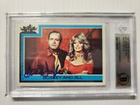 DAVID DOYLE SIGNED CHARLIE'S ANGELS TRADING CARD ENCAPSULATED BECKETT BAS RARE!