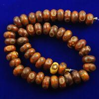 12x7mm Excellent Tibet Agate Heaven Eye Rondelle Loose bead 15.5inch  NN720