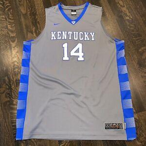 Nike KENTUCKY WILDCATS Jersey Kidd Gilchrist Basketball vtg 2012 Gray Mens 2XL