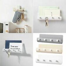 Key Rack Holder Wall Mount Key Organizer 4 Hook Keychain Hanger Home Storage