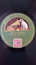 JAZZ 78 rpm RECORD Gramofono JOHN BOLES Film EL REY DEL JAZZ Paso en Monterey