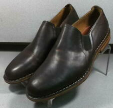 300382 TES50 Men's Shoes Size 8 M Brown Leather Slip On H.S. Trask