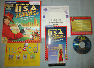 Where in the USA is Carmen Sandiego? - PC/Mac Computer CD Video Game - COMPLETE!