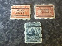 NEWFOUNDLAND POSTAGE STAMPS SG144,145a &146 1920 LIGHTLY MOUNTED MOUNT