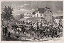 Harry Bertholfs Hotel Roadhouse Harlem Lane Horse Drawn Carriage Racecourse 1868