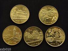 2003 -2005 China 5 Yuan. Taiwan Treasure  1 set of five Commemorative coins UNC