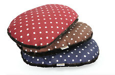 Cuscino ovale sfoderabile per cani e gatti con pois e pelliccetta 80x55 cm