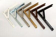 Folding Shelf Brackets Heavy Duty Wall Mounted load capacity 100kg/shelf 3 sizes