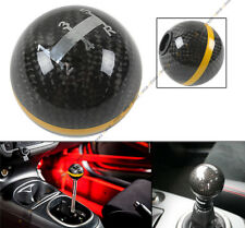 M10X1.25 ROUND CARBON FIBER MANUAL 5 SPEED SHIFT KNOB GOLD STRIP FOR MITSUBISHI
