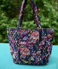 Vera Bradley VERA TOTE Large Bag ❀ MIDNIGHT WILDFLOWERS ❀ Travel / Work / School