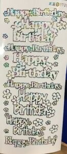 Outline Sticker - Happy Birthday Large - 170932 ml/wh