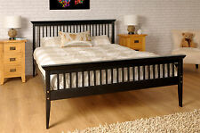Single Bed + Mattress - 3ft Pine Shaker Chocolate