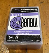100g Dominator ReNew Purple Ski and Snowboard Hot Wax Base Conditioner