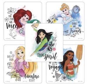 25 Disney Princess Adventure Ready Stickers Party Favors Moana Mulan Ariel