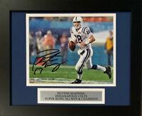 Peyton Manning Autographed Colts Super Bowl 41 XLI 8x10 Framed Photo Fanatics