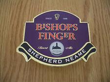 Shepherd Neame Bishops Finger Ale Beer Pump Clip Font Badge Advertising Sign