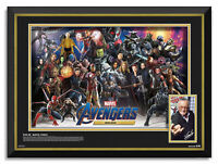 Stan Lee Facsimile Signed - Museum 3D MEGA Frame™ - Marvel Avengers Characters
