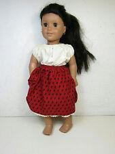 Pleasant Company American Girl Doll Dark Hair Pierced Ears Brown Eyes