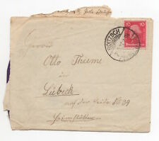 1927 GERMANY Cover ROITZSCH to LÜBECK SG406 Thieme