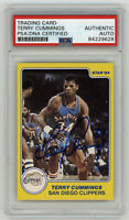 1983-84 CLIPPERS Terry Cummings signed ROOKIE card Star #1 PSA/DNA Slab AUTO RC