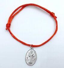 Pulsera roja medalla jesucristo nuevo amuleto proteccion religioso hombre mujer