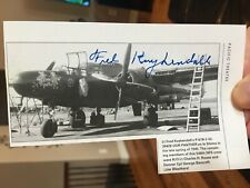 P-61 BLACK WIDOW pilot Fred Kuykendall Signed PLANE Photo