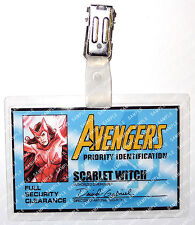 Marvel Avengers ID Badge Comic Scarlet Witch Cosplay Costume Prop Halloween