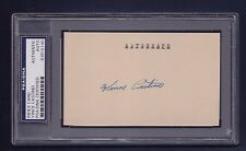Vince Castino signed baseball index card Psa/Dna authenticated & slabbed