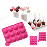 Cake Cookie Chocolate Silicone Lollipop Pop Mold Mould Baking Tray Stick Party C