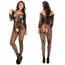 Romantic Fishnet Mesh Body Stocking Bodysuit Nightwear Lingerie Dress Style 606