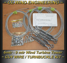 Wind Turbine Guy Wire Kit 6-9mtr Tower