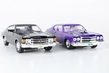 Pair of 1970's Chevrolet Chevelle SS Die-Cast Cars 1:18 Scale
